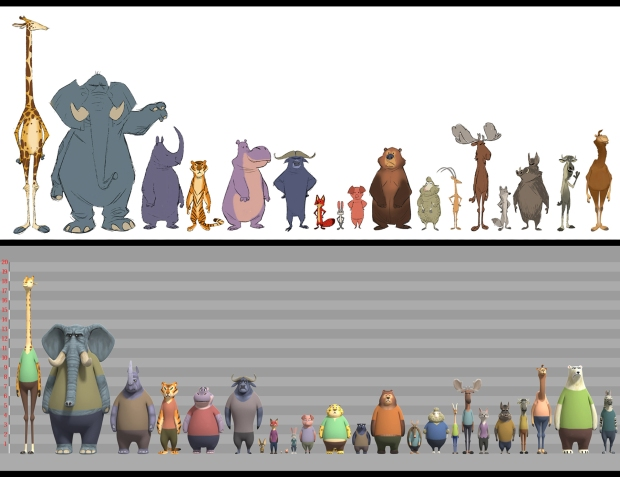 ZOOTOPIA – Character CG Model Lineup. ©2015 Disney. All Rights Reserved.